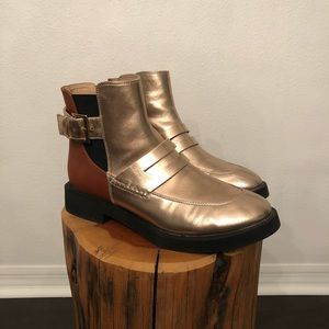 Free People Metallic Boots